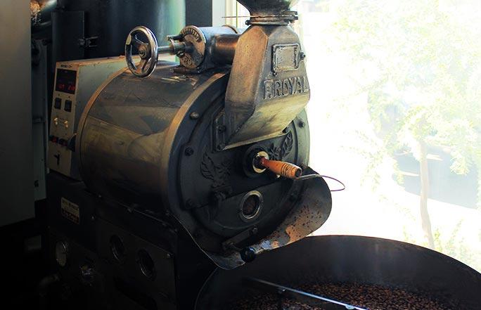 コーヒー豆焙煎機