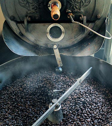 コーヒー豆の焙煎